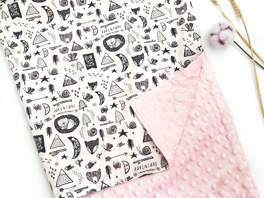 IN-STOCK Minky Blanket Wild Adventure