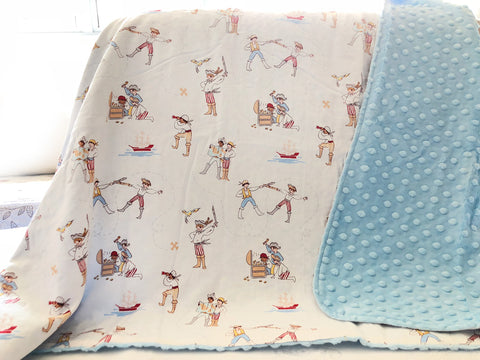 Pirate Play Minky Blanket