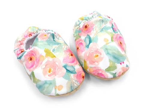 Watercolour Floral Booties