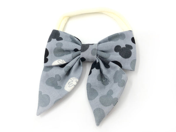 Bow Headband Mickey Grey