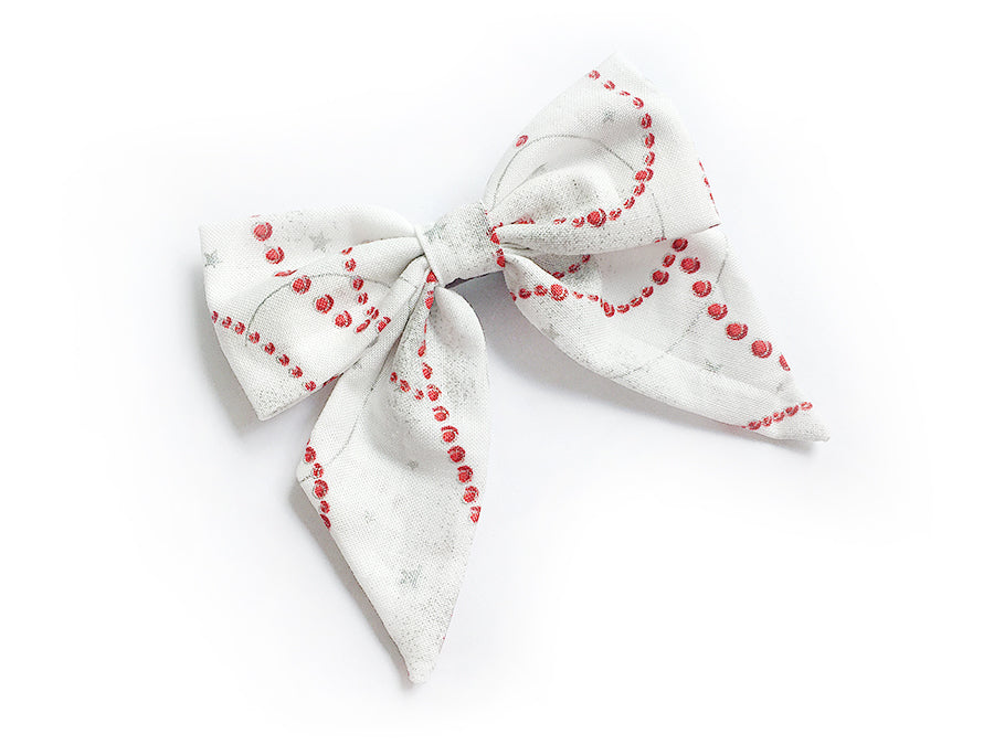 Bow Clip Christmas Beads