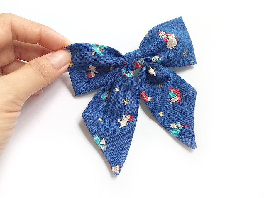 Bow Clip Christmas Gems
