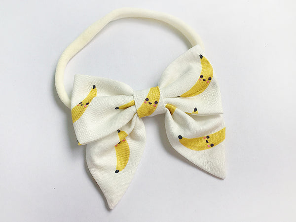 Bow Headband Cute Bananas
