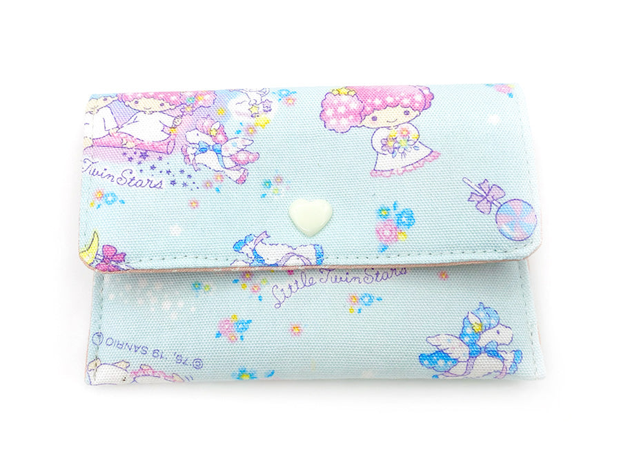 PRE-ORDER Fabric Wallet Little Twin Stars Blue
