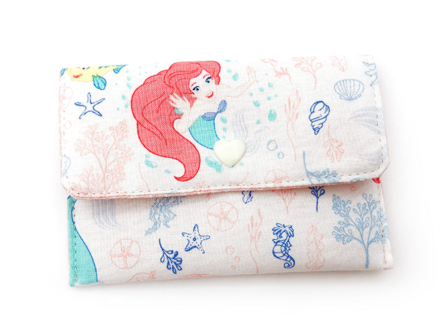 PRE-ORDER Fabric Wallet Little Mermaid White