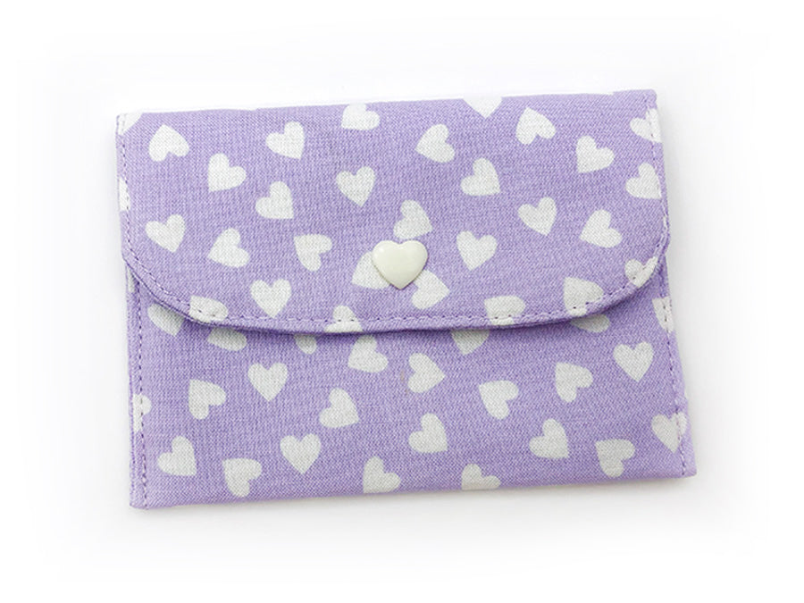 Card Wallet Purple Hearts