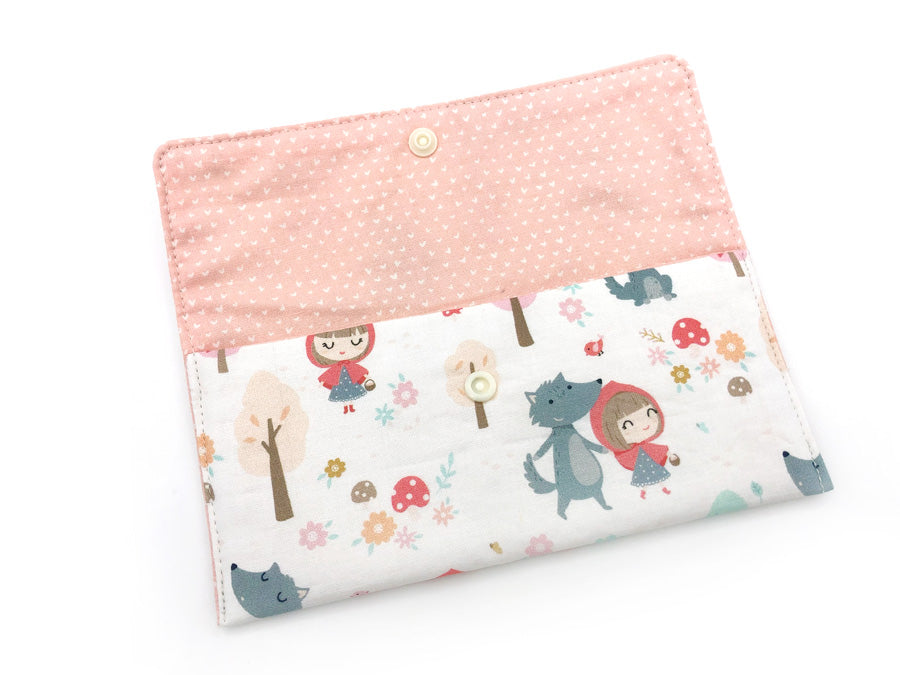 PRE-ORDER Fabric Wallet Red Riding Hood Smiley Wolf