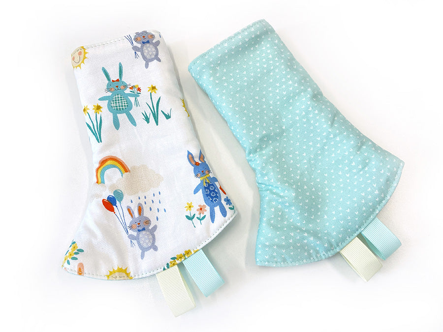 PRE-ORDER Drool Pads Fabric Tummy Bunnies