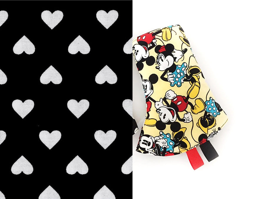PRE-ORDER Drool Pads Mickey Minnie Yellow