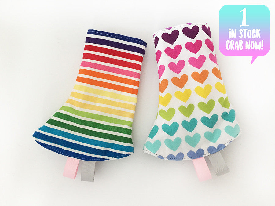 Rainbow Love Corner Drool Pads
