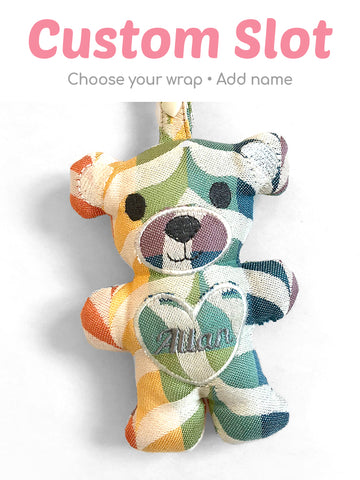 Custom Teething Bear Wrap