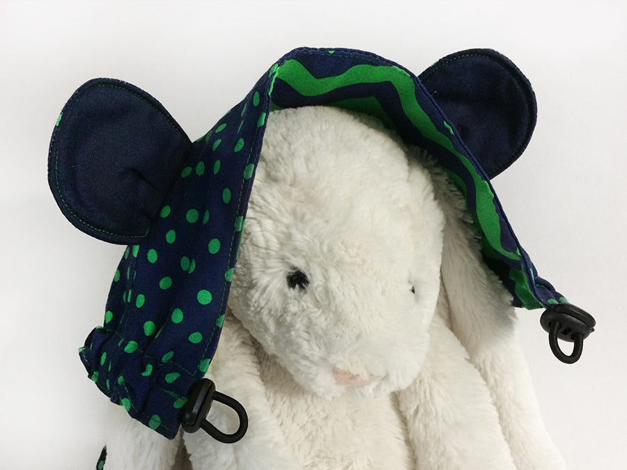IN-STOCK Tula Hood Ears Navy Green