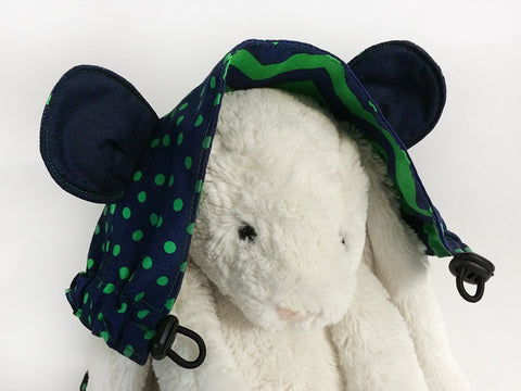 Navy Green Flat Hood with Ears