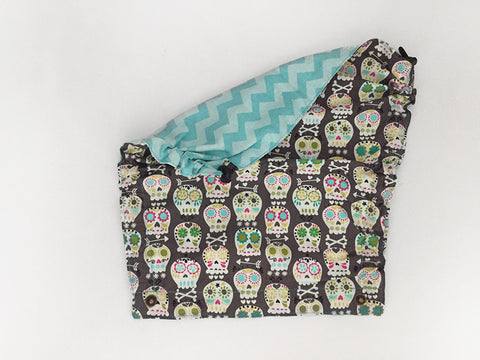 Pirate Sugar Skulls Tula Flat Hood