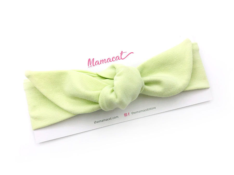 [SALE] Notty Headband Solid Light Green
