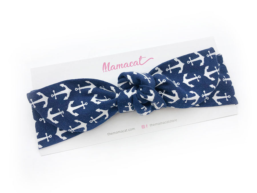 Notty Headband Anchor Navy