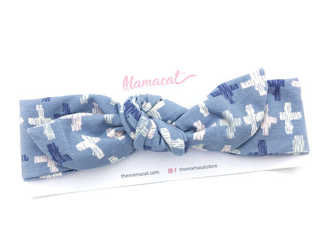 Notty Headband Blue Crosses