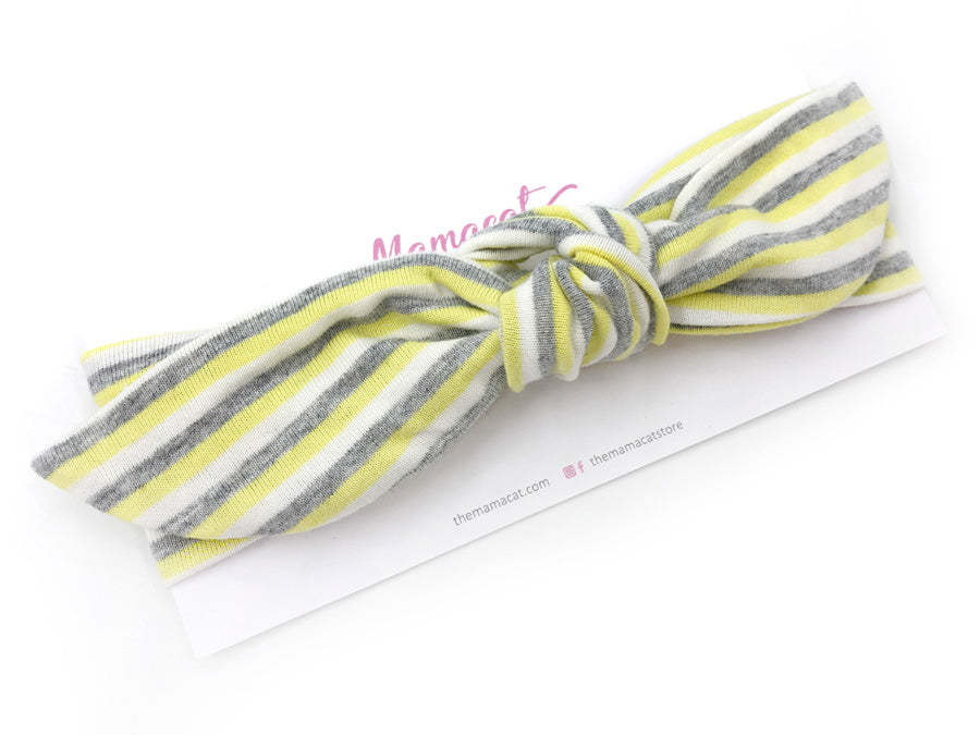 [SALE] Notty Headband Yellow Grey Stripes