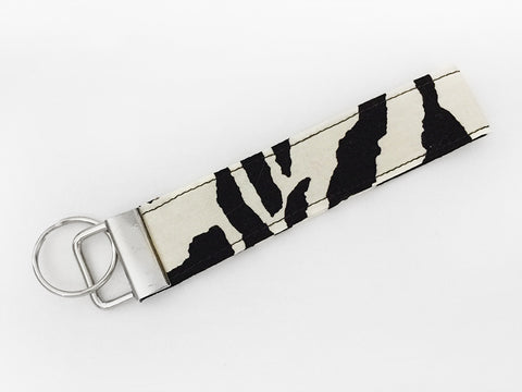 Zebra Stripes Key Fob