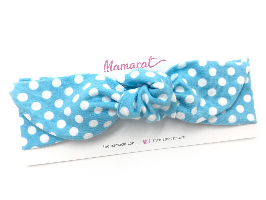 Notty Headband Snow Dots Blue
