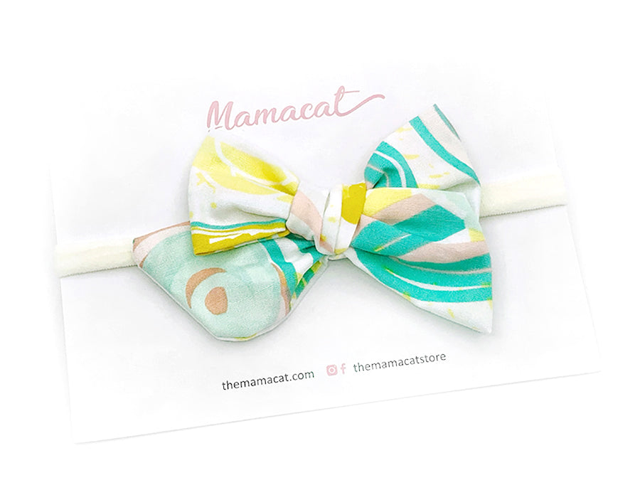 Bow Headband Bloom Reverie Yellow