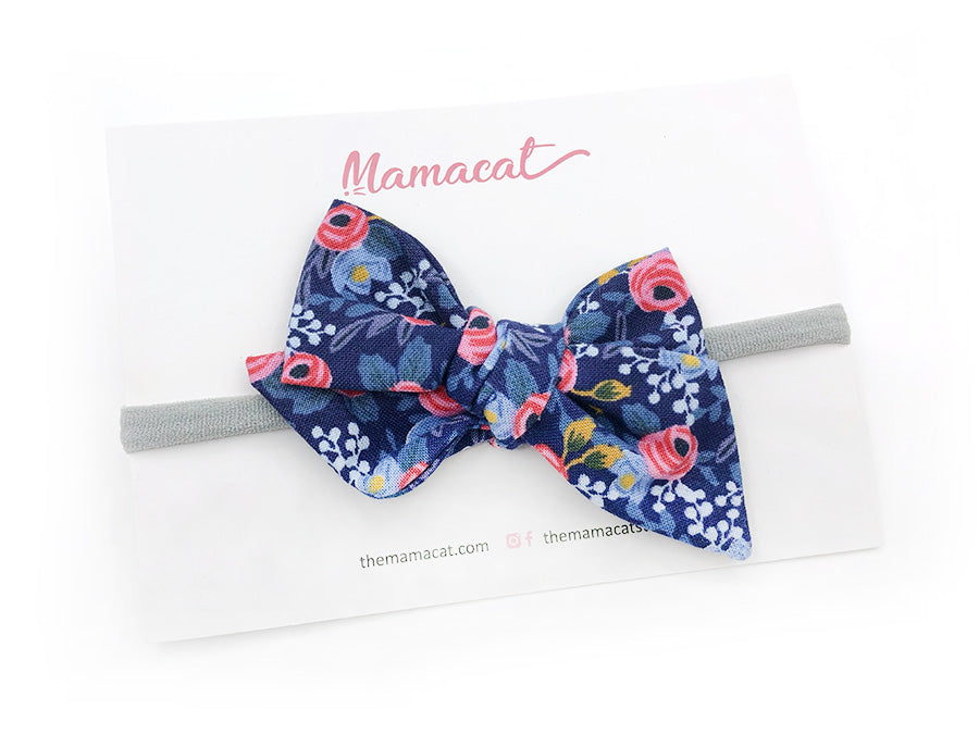 Bow Headband Blossom Navy