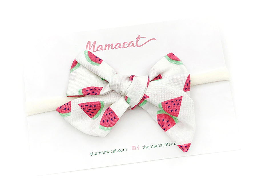Bow Headband Cute Watermelon