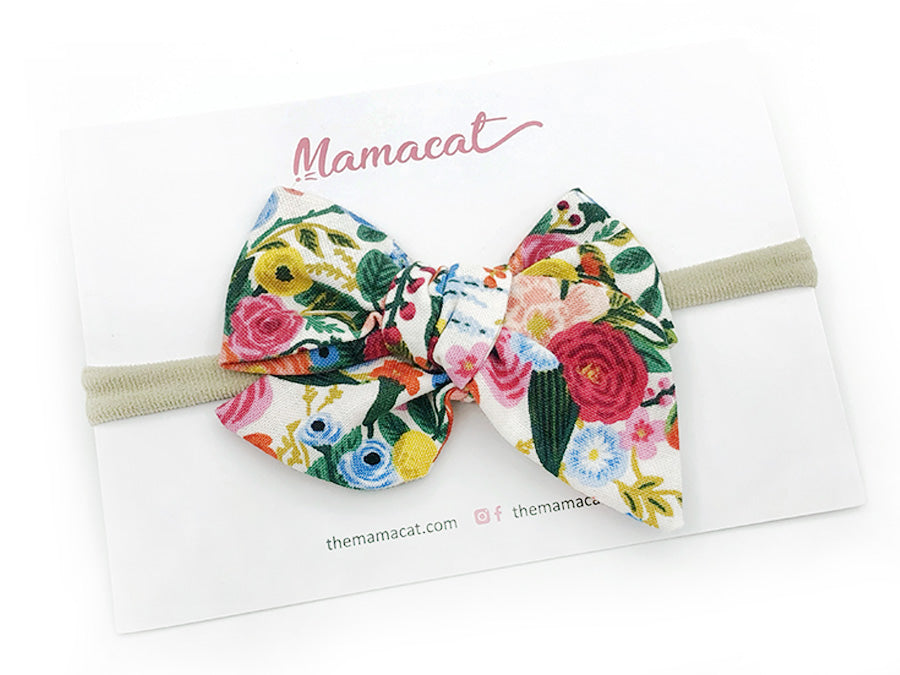 Bow Headband Forest Bloom