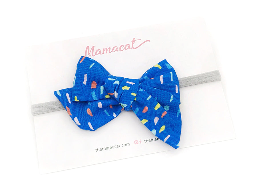 Bow Headband Painty Blue