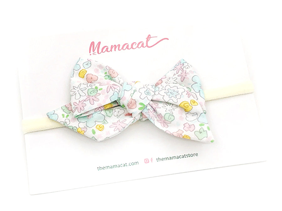 Bow Headband Pastel Floral