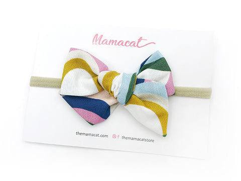 Bow Headband Rainbow Waves Vintage
