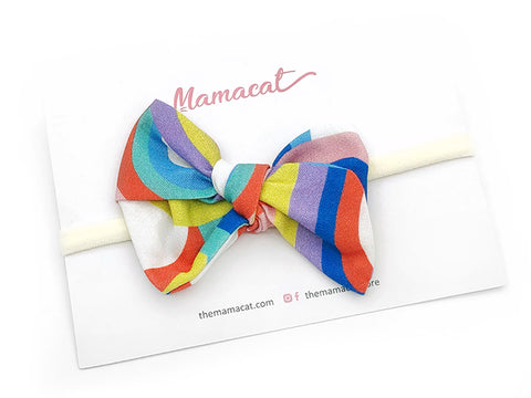 Bow Headband Rainbow Waves
