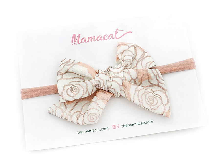 Bow Headband Rose Gold