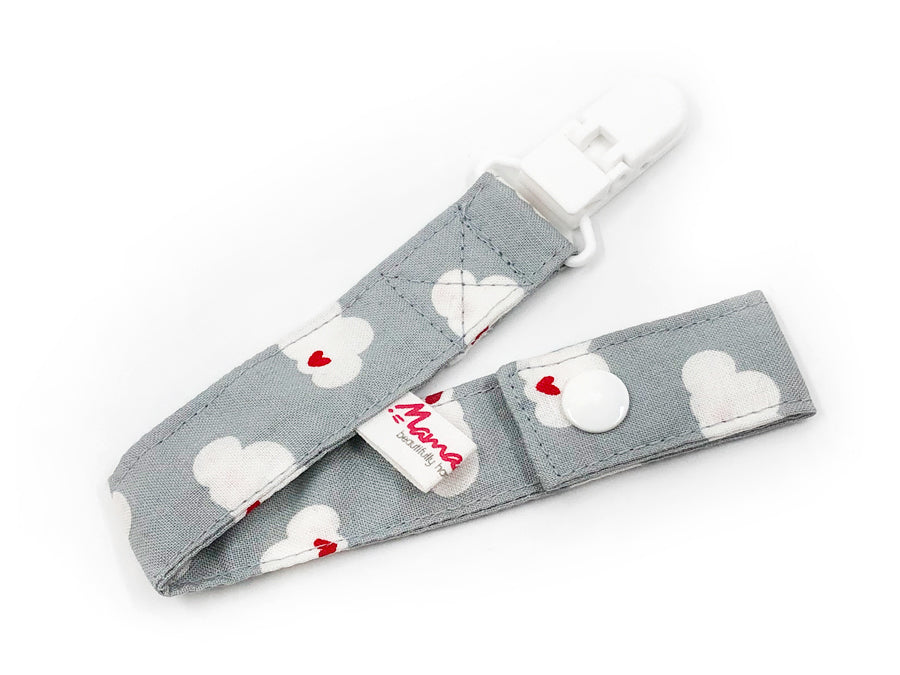 IN-STOCK Pacifier Strap Clouds on Grey