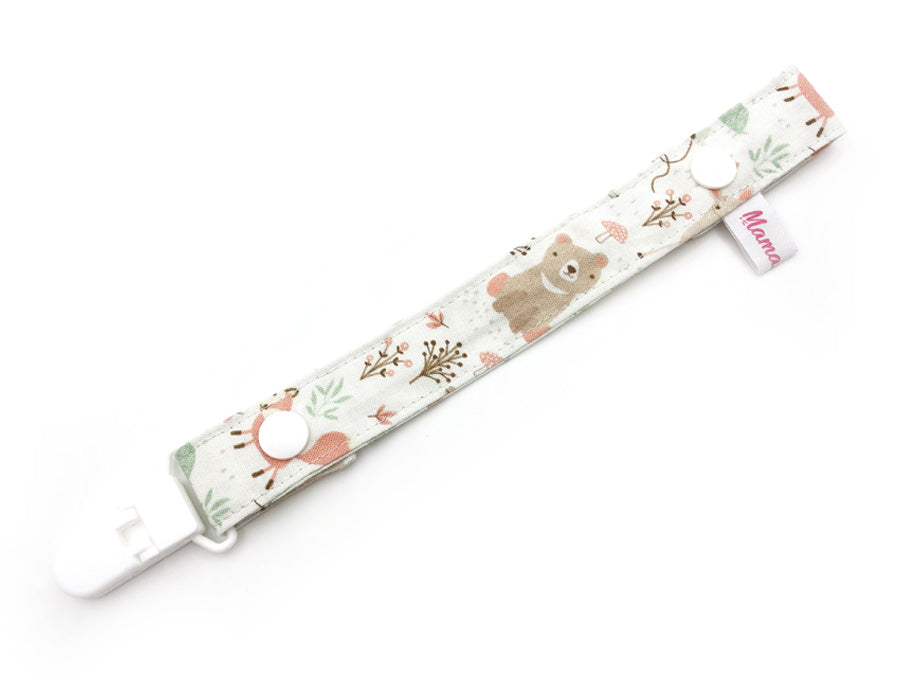PRE-ORDER Pacifier Strap Forest Friends