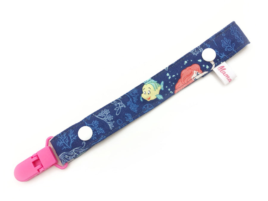 IN-STOCK Pacifier Strap Little Mermaid Navy