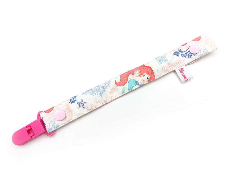 IN-STOCK Pacifier Strap Little Mermaid White