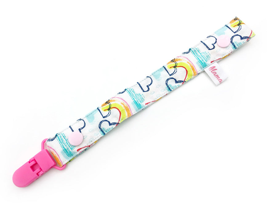 IN-STOCK Pacifier Strap Rainbow Bright