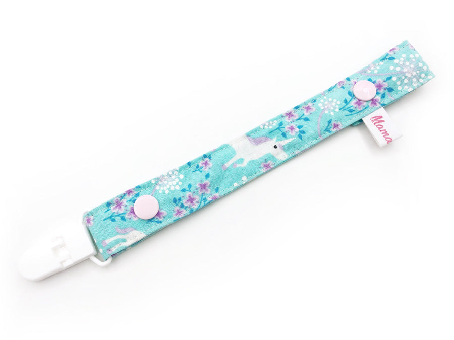 IN-STOCK Pacifier Strap Unicorn Aqua