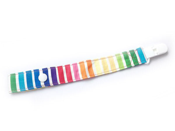 PRE-ORDER Pacifier Strap Primary Rainbow