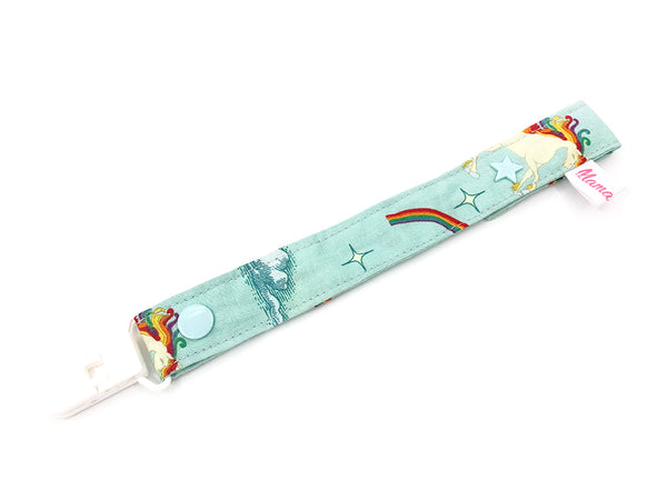 Pacifier Strap Vintage Unicorn Mint
