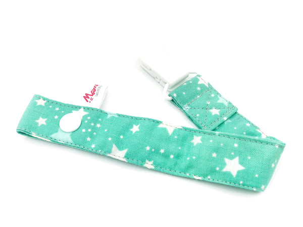 Pacifier Strap Mint Stars