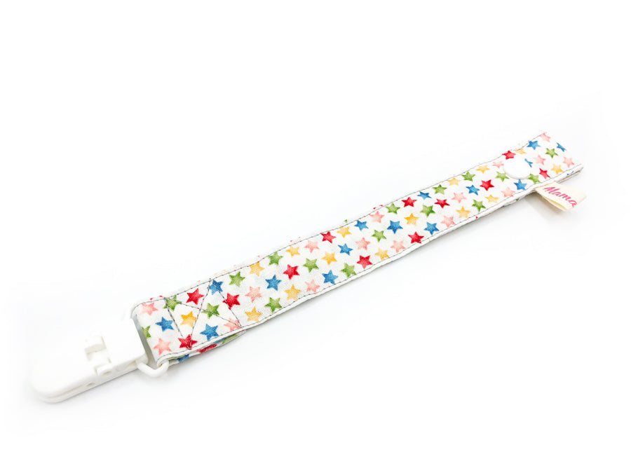 PRE-ORDER Pacifier Strap Rainbow Stars