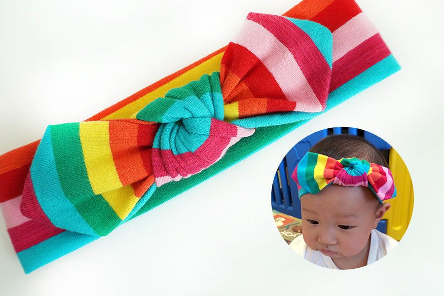 Notty Headband Rainbow Stripes