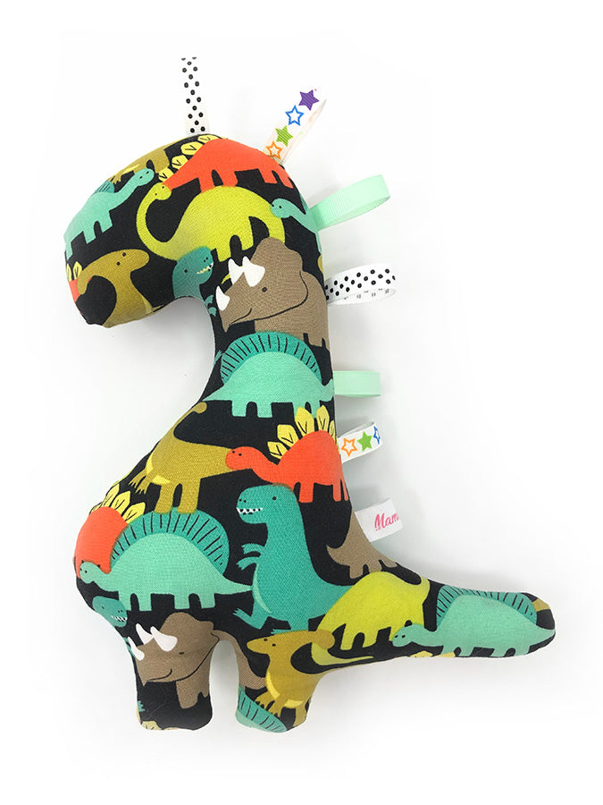 PRE-ORDER Rattle Dinosaur Mint Orange