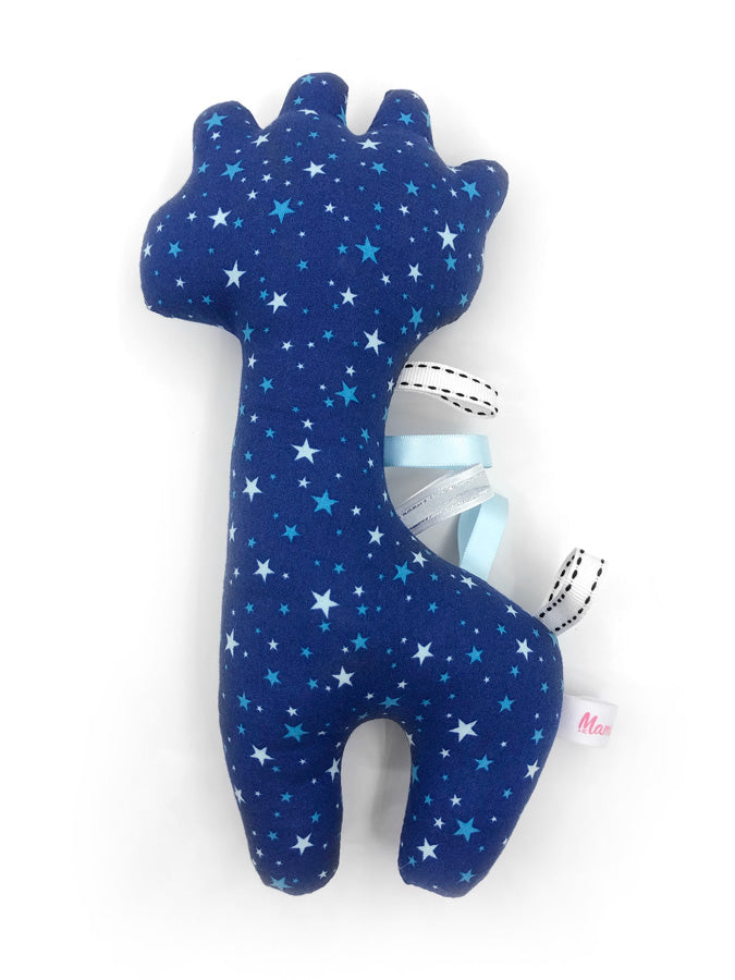 IN-STOCK Rattle Giraffe Blue Stars