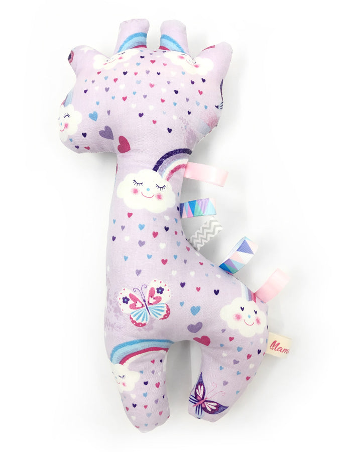 IN-STOCK Rattle Giraffe Purple Rainbow