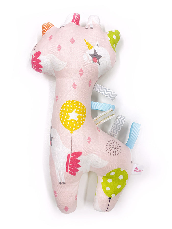 IN-STOCK Rattle Giraffe Unicorn Party Pink