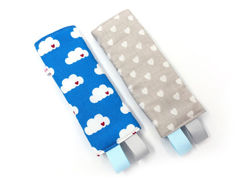 PRE-ORDER Seat Belt Pad Clouds on Blue