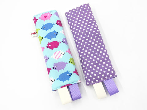 IN-STOCK Seat Belt Pad Piggy Blue